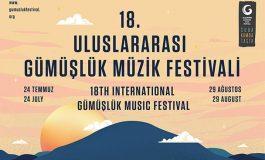 18. Uluslararası Gümüşlük Müzik Festivali 24 Temmuz - 29 Ağustos Tarihleri Arasında